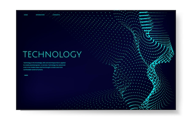 Data visualization particle dynamic wave pattern vector
