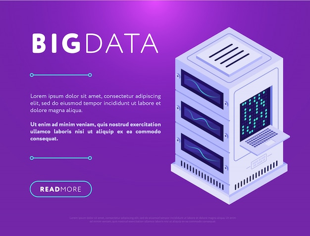 Database center tower in web design