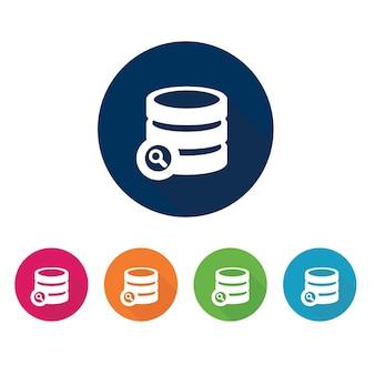 데이터베이스 아이콘. 보관 기호