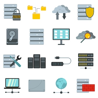 Database icons set