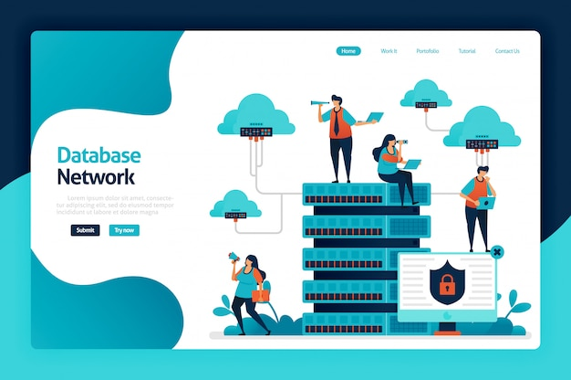 Database network landing page