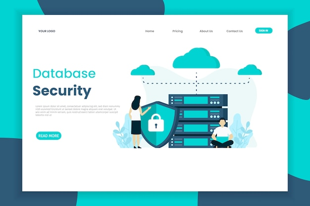 Database security landing page template