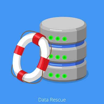 Database sql storage rescue technology concept