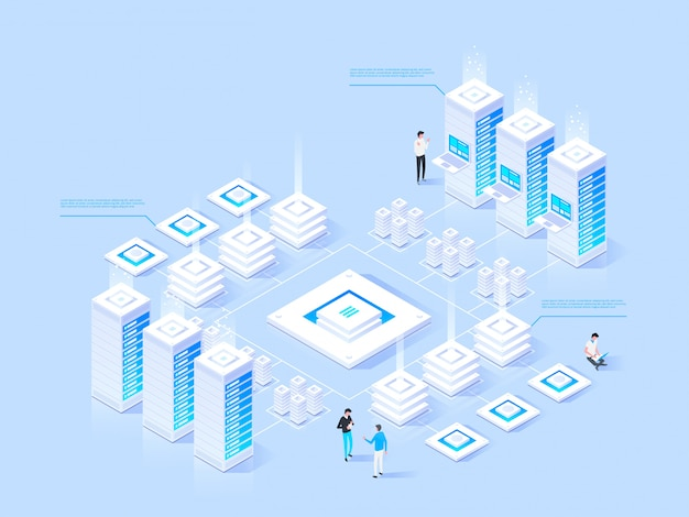 Datacenter isometric illustration
