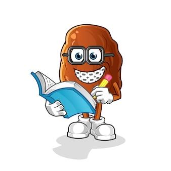 Date fruit geek cartoon illustration