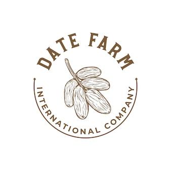Шаблон логотипа финиковая пальма
