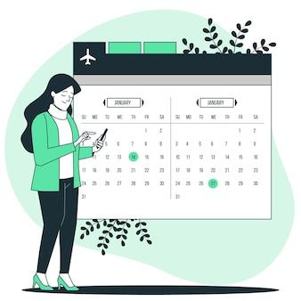 Illustrazione del concetto di selezione della data