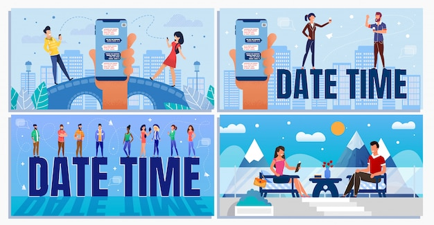 Date time for business and informal situation set