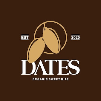 Dates logo food graphic design element