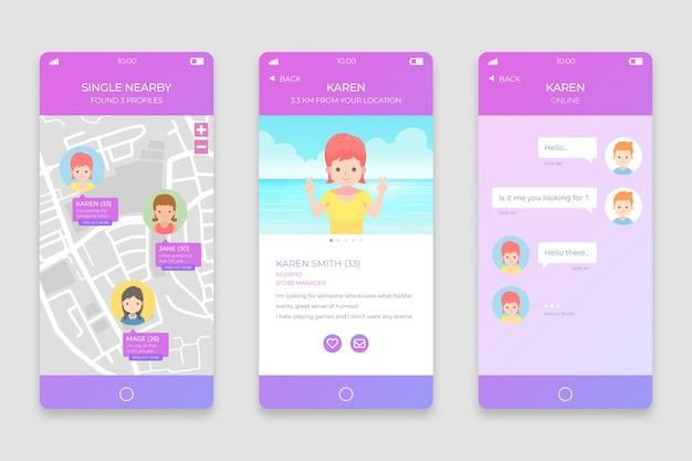 出会い系アプリのチャットインターフェース