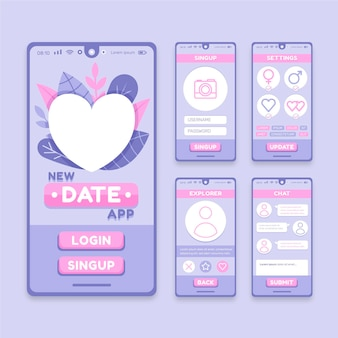 Dating app interface concept