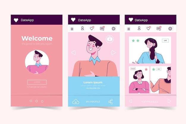 Концепция интерфейса приложения для знакомств