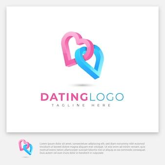 Логотип знакомств в 3d стиле
