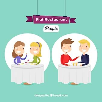 Scena di incontro in un ristorante