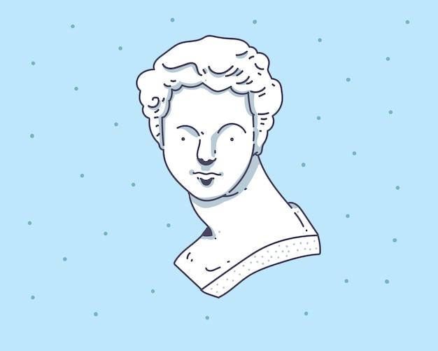 ダビデ像手描きイラスト。デビッドイラスト