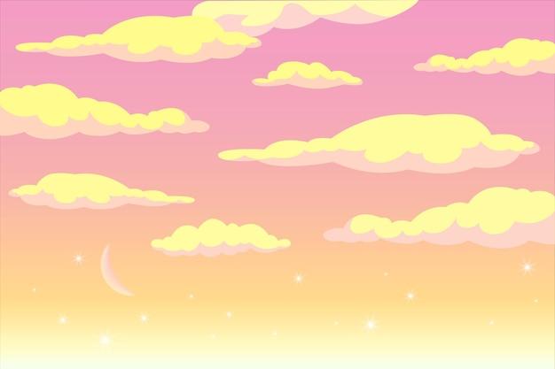 ビデオ会議の夜明けの空の背景