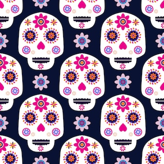Day of the day skull pattern