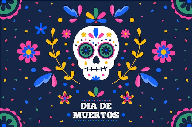 Day of the dead background design