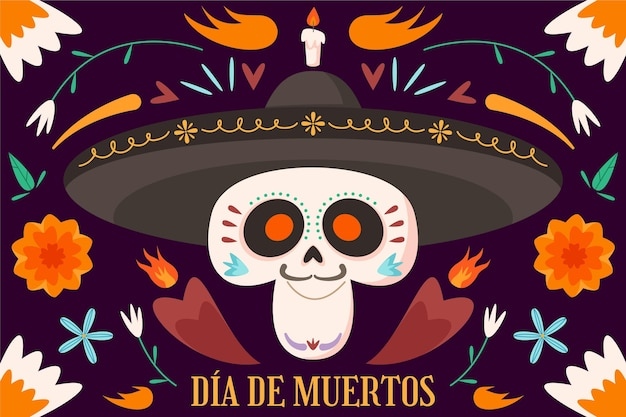 Day of the dead background style