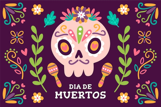 Day of the dead background theme
