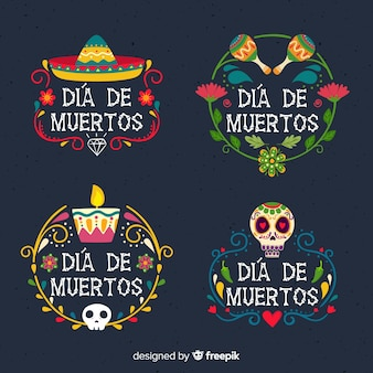 Day of the dead badge collection
