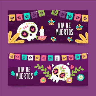 Day of the dead banner template