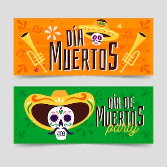 Day of the dead banners design