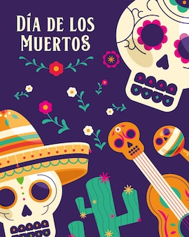 Day of dead card