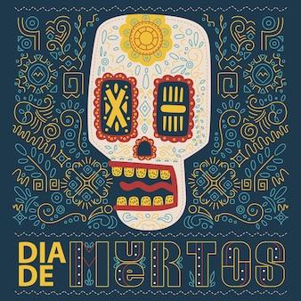 Day of the dead dia de los muertos skull