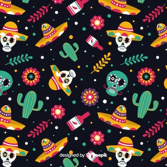 Day of the dead flat pattern