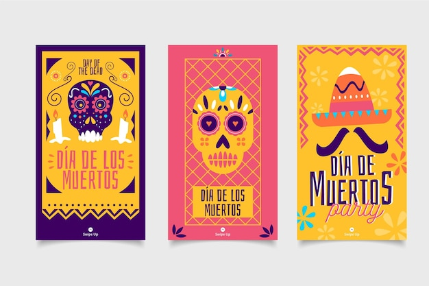 Day of the dead instagram post set