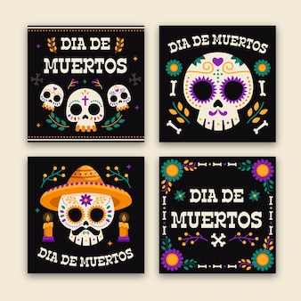 Day of the dead instagram posts set