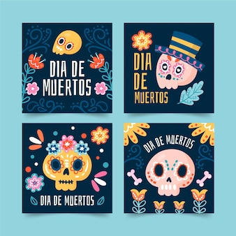 Day of the dead instagram posts template