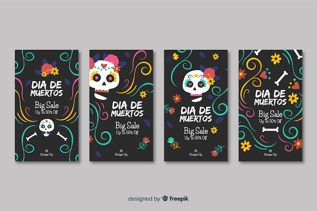 Day of the dead instagram stories collection