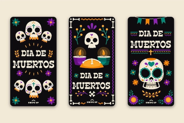 Day of the dead instagram stories pack
