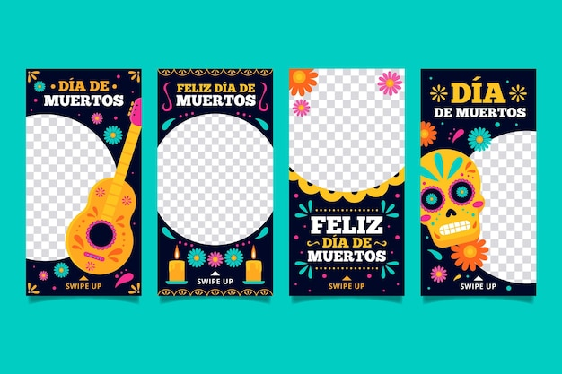 Day of the dead instagram stories set