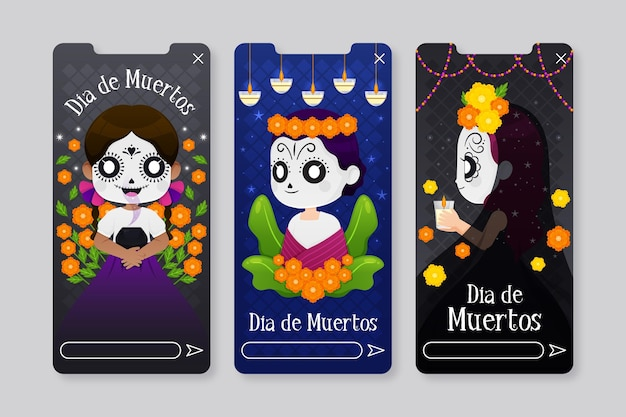 Day of the dead instagram story pack