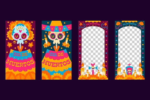 Day of the dead instagram story set