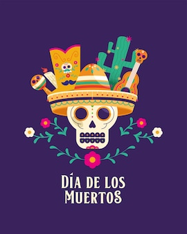 Day of dead lettering