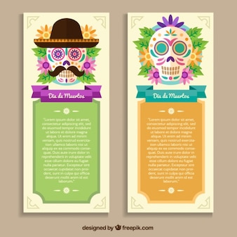 Day of the dead ornamental flyers