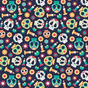 Day of the dead pattern concept