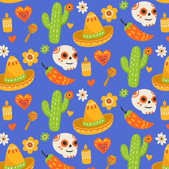 Day of the dead pattern style
