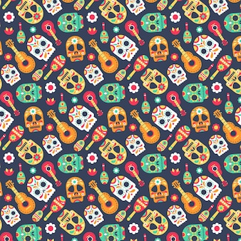 Day of the dead pattern theme