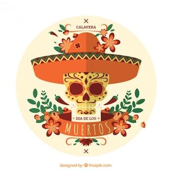 Day of the dead skull Premium Vector