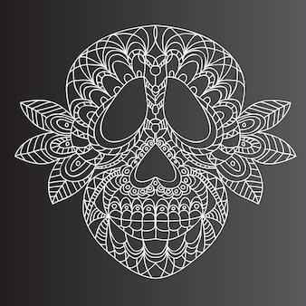 Day of the dead  sugar skull -  vector Premium Vector