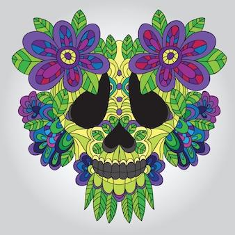 Day of the dead  sugar skull -  vector