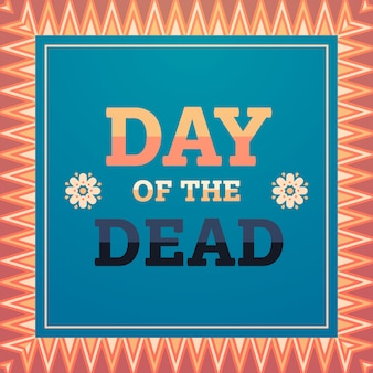 Day of dead traditional mexican halloween dia de los muertos holiday party decoration invitation greeting card flat