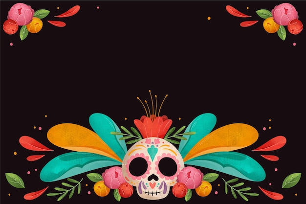 Day of the dead watercolor design