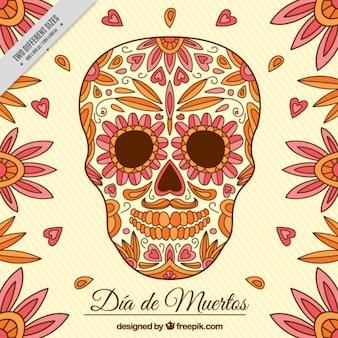 Giorno dei morti con fiori e cuori