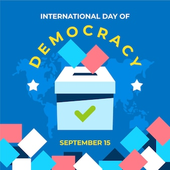 Day of democracy with ballot box